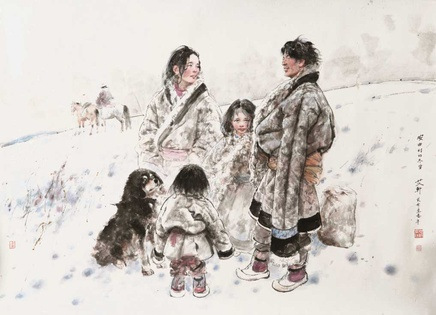 Ai Xuan, Snowy Winter in Anqu Village , 2013