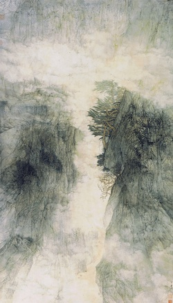 Li Huayi, Golden Mist in a Mountain Gorge, 1995