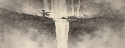 Li Huayi, Waterfall amid Clouds, 2013