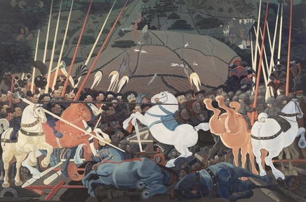 Zhang Gong, Mickey Mouse and Donald Duck at War, 2013